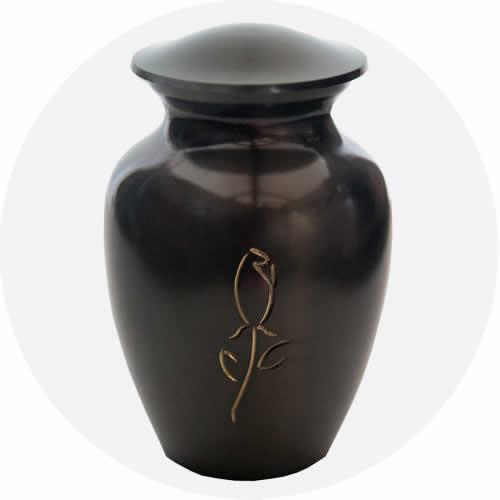 Rosebud Urn Titanium